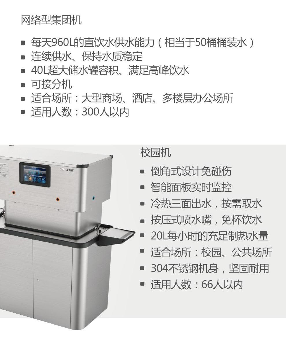 商用JZY-A5B-C8新款净水器运用范围